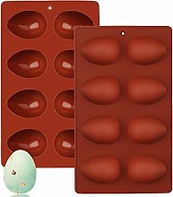 1Pcs Easter Egg Chocolate Mould, 8-Cavity 3D Egg