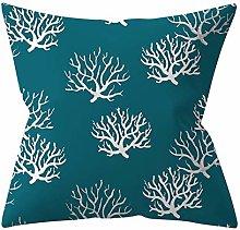 1Pcs Geometric Green Pattern 4545CM Cushion Cover