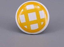 1PCS Hand Printed Ceramic Furniture Knobs Handle,