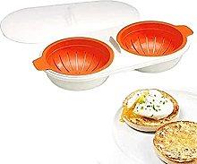 1PCS Microwave Eggs Poacher Food Grade Double Cup