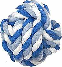 1Pcs Pet Dog Braided Cotton Rope Knot Ball Chew