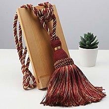 1PCS Polyester Tassel Curtain Tieback Handmade