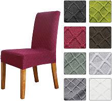 1pcs Stretch Solid Diamond Lattice Dining Chair