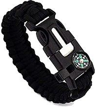 1pcs Survival Paracord Bracelet with Flint Fire