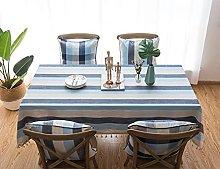 1Pcs Waterproof Tablecloth, Natural Cotton And