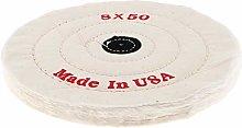 1Pcs White Cotton Polishing Buffing Disc for Bench