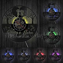 1Piece Heart Shape Clock Engagement anniversary