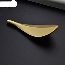 1piece Solid Brass Gold Leaf Shaped 32mm Cabinet