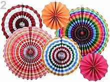 1set 2 Multicolor Decorative Paper Rosette - Set