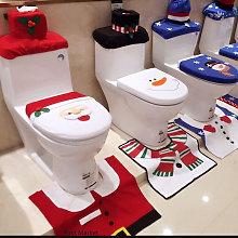 1Set Christmas Santa Claus Toilet Seat Cover Rug