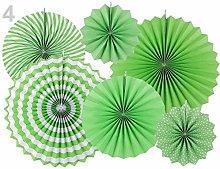 1set Light Green Decorative Paper Rosette - Set of