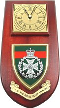 1st Btn Royal Green Jackets Wall / Mess Clock