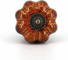 1x Cabinet Pumpkin Knobs Vintage Door Pull for