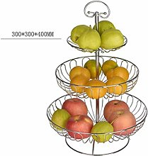 1yess Fruit Tray Metal Wire Fruit Basket, 3 Tier
