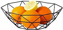 1yess Fruit Tray Vegetable Wire Basket Metal Bowl