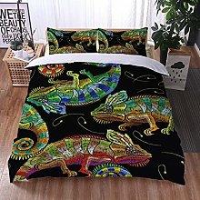 2/3Pcs Bedding Set 3D Printing Animal lizard