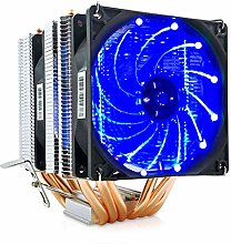 2/4/6 Heatpipes CPU Cooler Fan, for AMD Intel 775