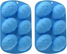 2/4 Pcs Easter Egg Shape Silicone Moulds, Easter