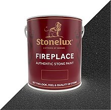 2.5 Litre Stonelux Fireplace Paint in Blackpearl