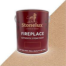 2.5 Litre Stonelux Fireplace Paint in Rich Buff