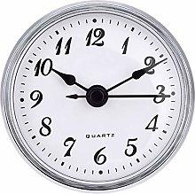 2.8 Inch/ 70 mm Quartz Clock Insert, Gold Trim,