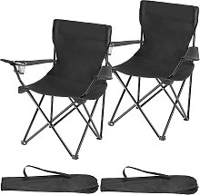2 Camping chairs Gil - black