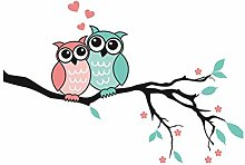2 Cute Owls Waterproof Polyester Material Soft