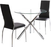 2 dining chairs synthetic leather - dining room