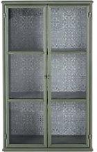 2-door display case in light green metal