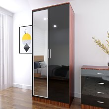 2 Door Double Wardrobe Storage with Hanging Rail