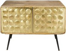 2-door dresser in gold-effect metal Gatsby