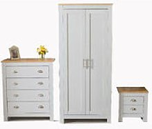 2 Door Wardrobe Bedside Table Chest of Drawer