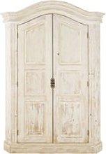 2-door white recycled pine wardrobe Sade