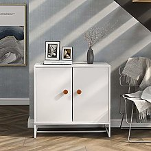 2 Doors Storage Cabinet with 2 Shelves, Chest