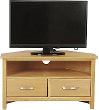 2 Drawer Corner TV Stand Cabinet with Storage