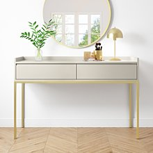 2 Drawer Dressing Table in Taupe - Zion