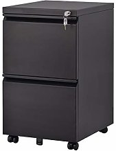 2 Drawers Steel Filing Cabinet with Lock and