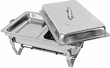 2 Food Warming Trays, 7.5L Stainless Steel Double