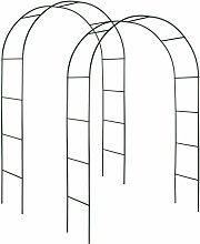 2 garden arches approx. 240 cm - garden arbor,
