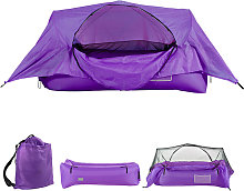2-in-1 Airbed Tent Inflatable Air Sofa with Canopy