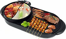 2 in 1 BBQ and Hot Pot Electric Grill Indoor