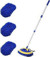 2-in-1 Car Wash Mop Mitt 45' Long Handle