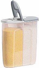 2 in 1 Cereal Storage Container with Lids, 2.5L