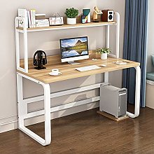 2 In 1 Computer Desk With Shelves,E1 Board