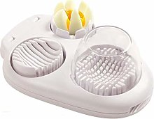 2 in 1 Egg Slicer Cutter Stainless Steel Egg
