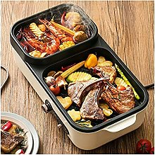 2 In 1 Electric Grill Hot Pot,Portable Home