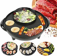 2 in 1 Electric Pan, 1600W Household Electric