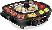 2 in 1 Electric Pan Hot Pot BBQ Frying Cook Grill