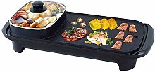 2 in 1 Electric Smokeless Barbecue Grill and Hot