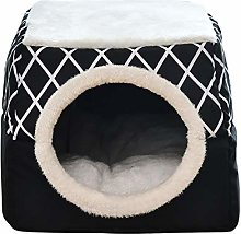 2 In 1 Foldable Cat Bed, Self-Warming Foldable